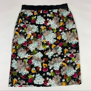 Anthro Girls From Savoy Eero Floral Pencil Skirt